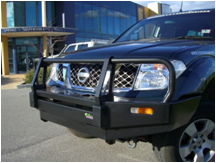 Navara with Commercial Winch Bull Bar